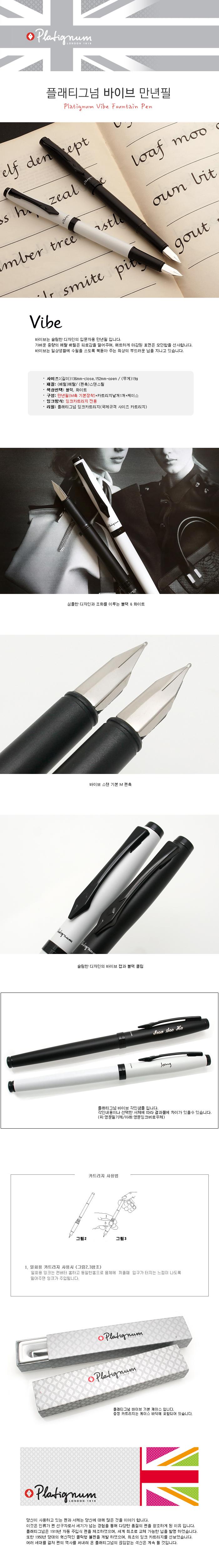 platignum fountain pen 플래티그넘 바이브